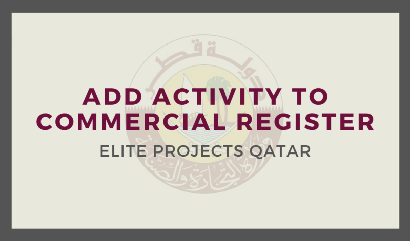 Add Activity to Commercial Register