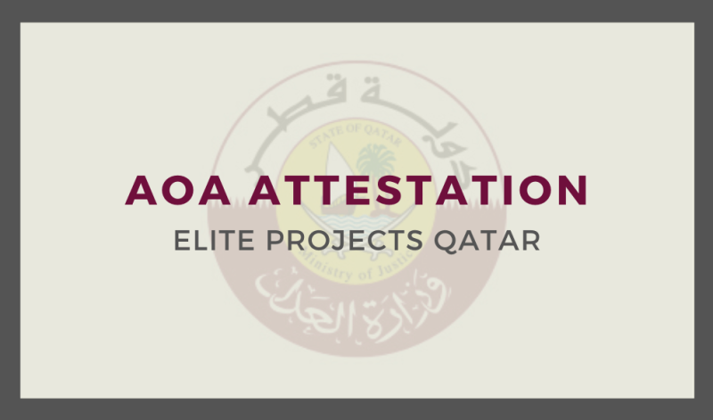 Article of Association Attestation (AOA)