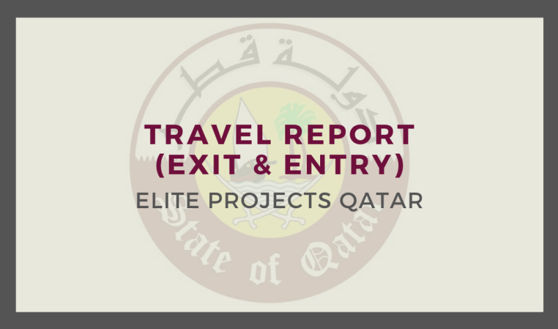 Travel Report (Exit & Entry)