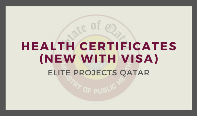 Health Certificates (New with Visa)