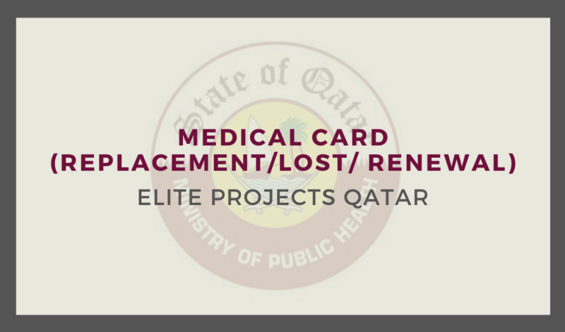 Medical Card (Replacement/Lost/ Renewal)