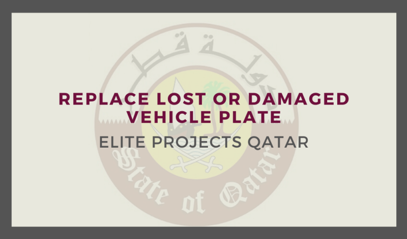 Replace Lost or Damaged Vehicle Plate