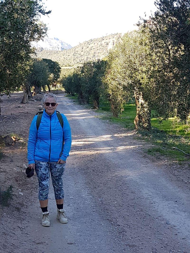 05/01Mainou (ten zuiden van Cambrils), fietsen en wandelen met Lana