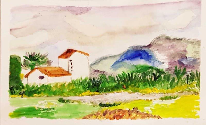 een ruine bij camping Huerta de Murcia, Los Ramos, Spanje