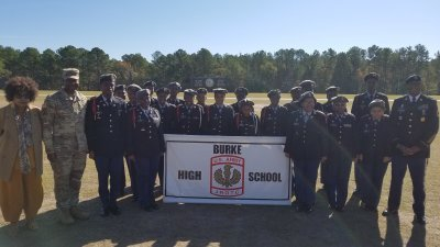 Burke High school JROTC Bulldogs