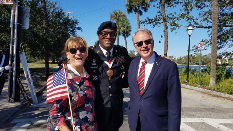 our Sargent with mayor John Tecklenburg and his wife