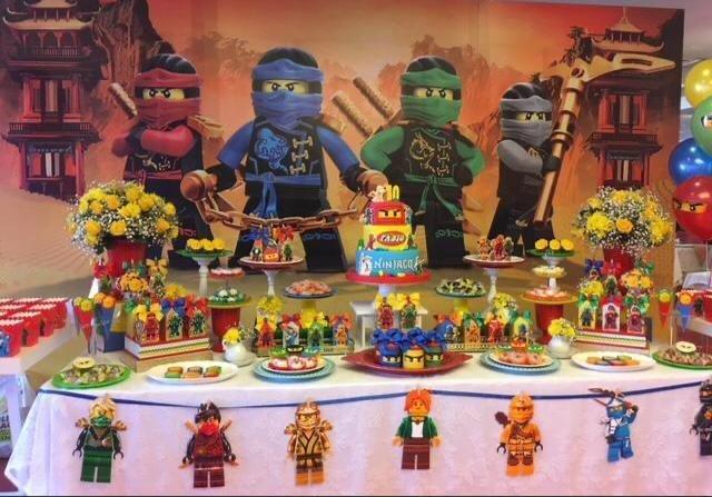Decoração de festa infantil tema Lego Ninjago
