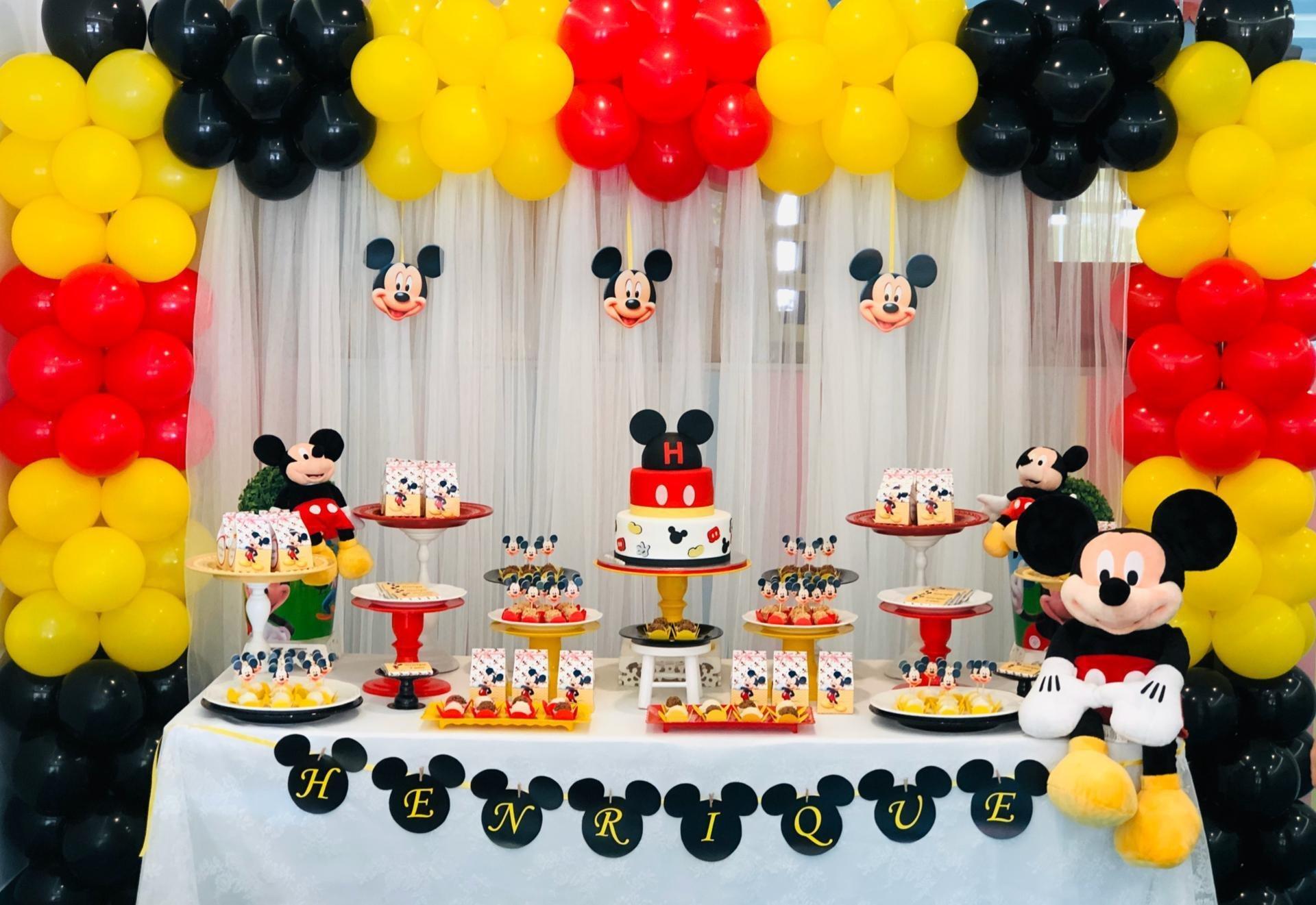 Decoração de festa infantil tema Mickey Mouse