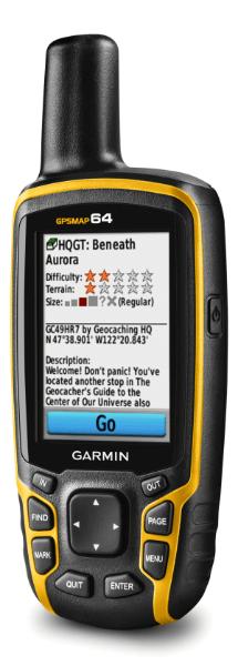 chasse au trésor GPSMAP64