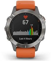 fēnix 6 Pro et fēnix 6 Sapphire avec affichage de la fréquence cardiaque