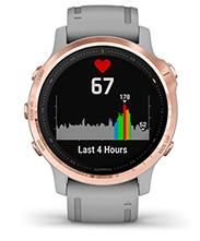 fēnix6S Pro et fēnix6S Sapphire avec affichage de la fréquence cardiaque