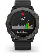 fēnix6X Pro Solar avec affichage de la fréquence cardiaque