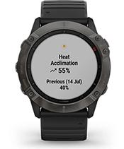 fēnix6X Pro Solar avec affichage des métriques de performance