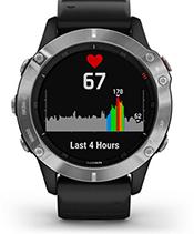 fēnix6 avec affichage de la fréquence cardiaque