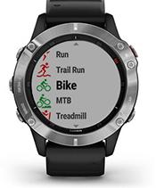 fēnix6 avec écran d'applications sportives
