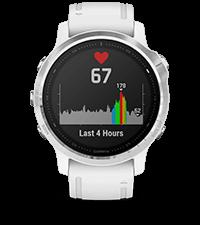fēnix6S avec affichage de la fréquence cardiaque