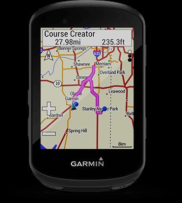 Edge 530 avec écran Garmin Cycle Map