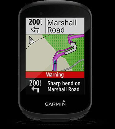 Edge 530 avec écran de directions