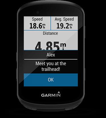 Edge 530 avec écran des Smart Notifications
