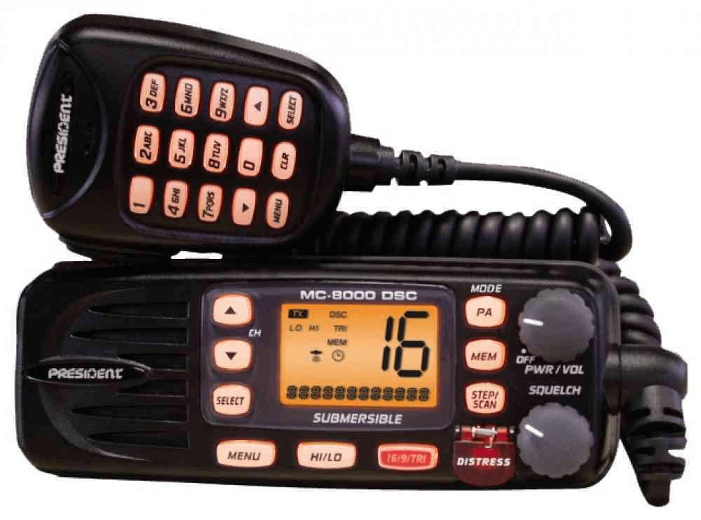 Radio Marine PRESIDENT MC-8000 DSC VHF MAROC
