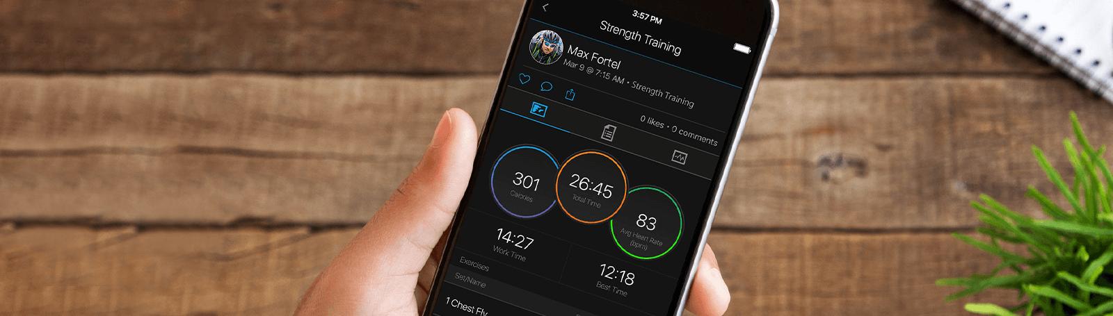 Consultez vos statistiques et suivez vos objectifs dans l'application Garmin Connect™
