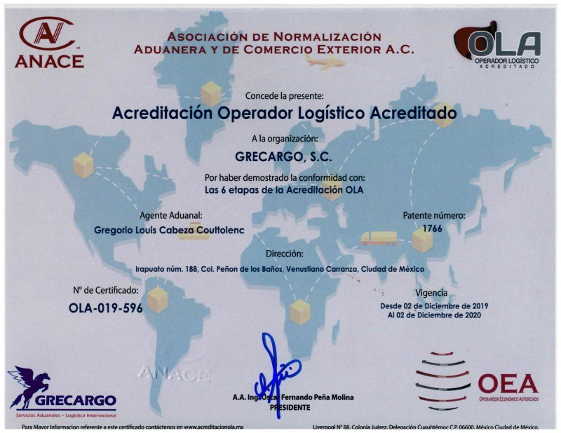 CERTIFICADO OLA-019-596