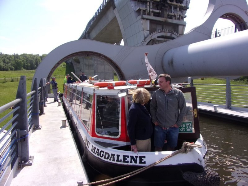 LUCS volunteers run cruises to the Falkirk Wheel
