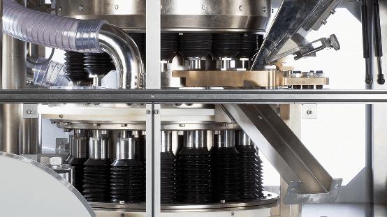 Heavy-duty single-press rotary press.