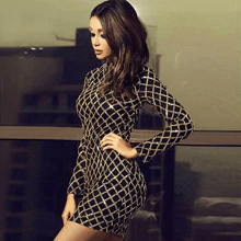 Fashion-Women-Dresses-Sexy-Sequin-Turtleneck-Slim-Fit-Lady-Long-Sleeve-Everying-Party-Mini-Dress-Casual