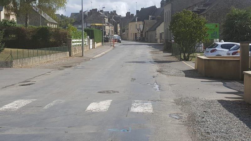 Rue Jean Marie régnault avant les travaux