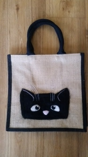 Needlefelted Cat Bag - by Jo
