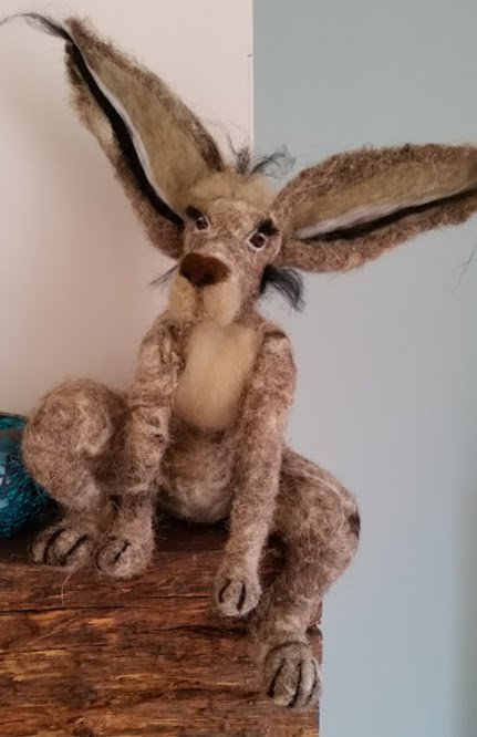 Needlefelted Hare - by Jo
