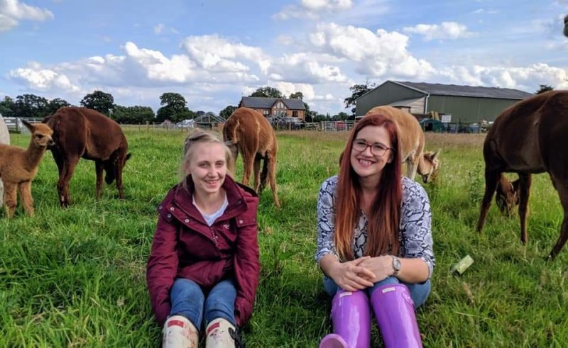 Jess & Alice - our Sunday Alpaca Walk Leaders
