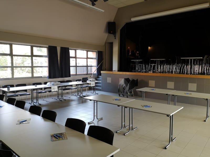 inrichting zaal