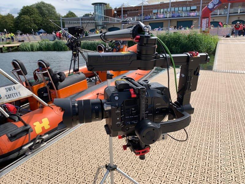 Superhero Triathlon - Polecam with FS-7 camera.