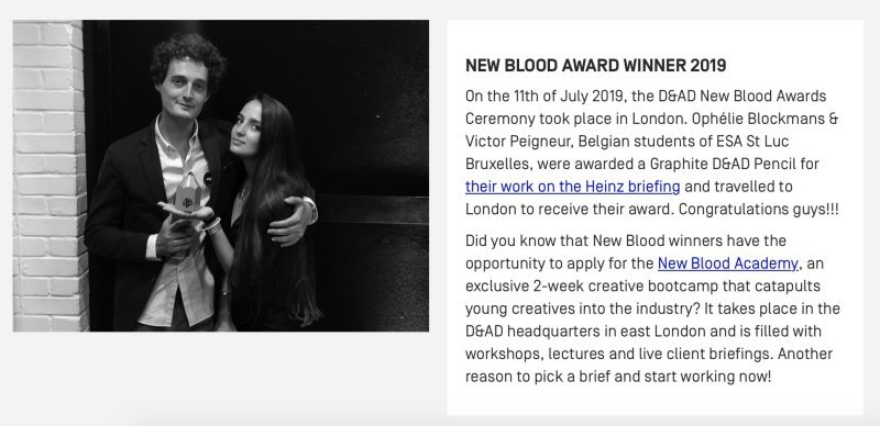 NEW BLOOD AWARD WINNER