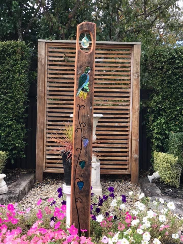 Rustic Tui w Kowhai, $470