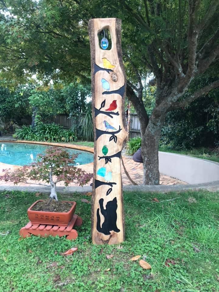 Birds, Birds, Birds and a Kitty - $400