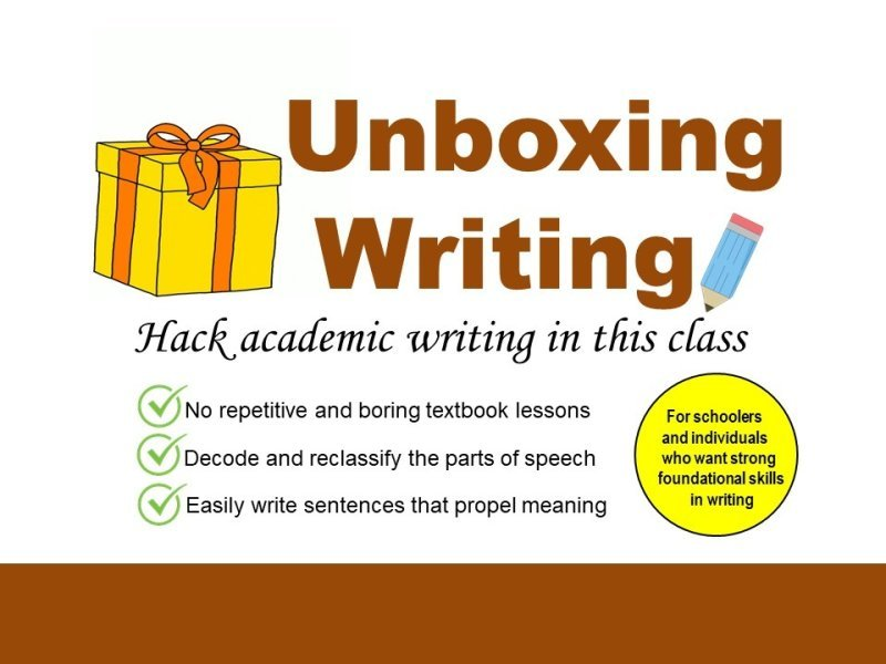 UNBOXING WRITING SERIES 1