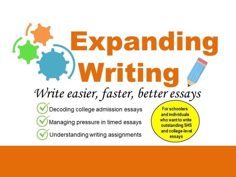 EXPANDING WRITING SERIES 3