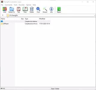 WinRAR screenshot 1