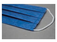 Blue Stitched Mask