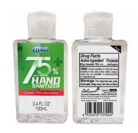Advanced 75% Alcohol Hand Sanitizer | 100ML, 3.38oz