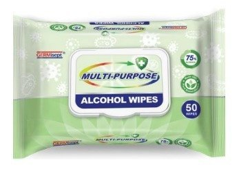 Multi-Purpose Alcohol Wipes   50 pc. Pack