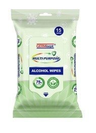 Multi-Purpose Alcohol Wipes | 15 pc. Pack