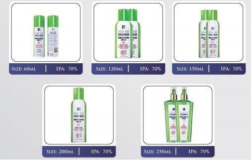 New NB Hand Sanitizer Spray