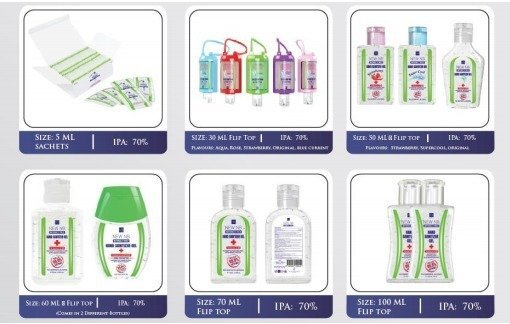 New NB Hand Sanitizer Gels (travel size)