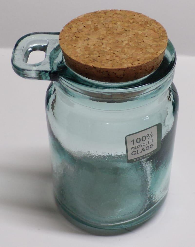 Pot à condiment en verre recyclé