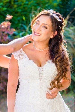Maquillage et coiffure mariage princesse, wavy et diadème