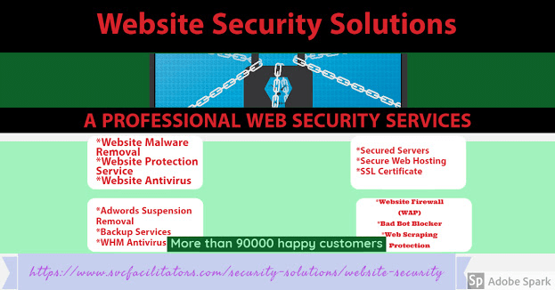 Image describing website security solutions
